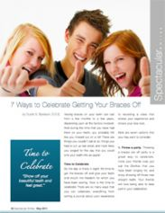 7 ways to celebrate getting braces off