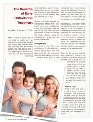the benefit of early orthodontic treatment