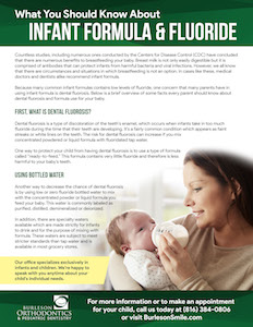 infant formula & flouride